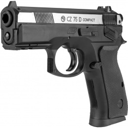 ASG CZ 75D Compact Dual-Tone CO2 Non-Blowback Airgun Pistol - BLACK/SILVER