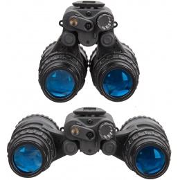 Lancer Tactical Replica Dual PVS-15 NVG Dummy Goggles - BLACK