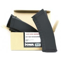 KWA 120 Round Mid-Cap Airsoft AEG Magazine 3-Pack - BLACK