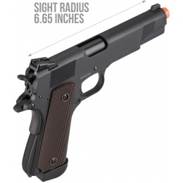 Double Bell M1911 CO2 Airsoft Pistol Type 2 (High Velocity) - BLACK