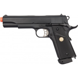 Double Bell M1911 CO2 Blowback MEU Airsoft Pistol (400+ FPS) - BLACK