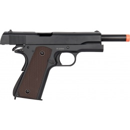 Double Bell M1911 GBB Airsoft Pistol Type 1 (Low Velocity) - BLACK