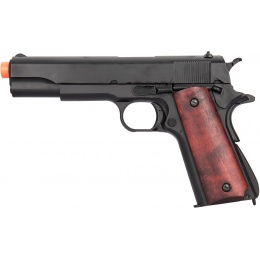 Double Bell M1911A1 Gas Blowback Airsoft Pistol (Low Velocity) - BLACK