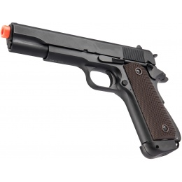 Double Bell M1911 CO2 Airsoft Pistol Type 1 (High Velocity) - BLACK