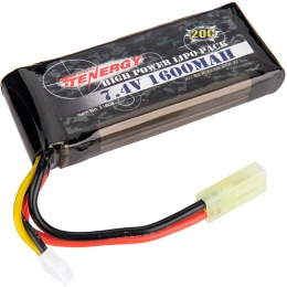 Tenergy High Power 20C 7.4v 1600mAh Mini LiPo Battery