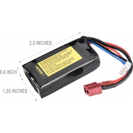 Lancer Tactical 15C 11.1v 1200mAh Mini Deans LiPo Battery