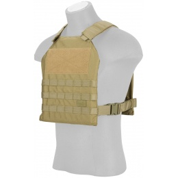 Lancer Tactical Standard Issue 1000D Nylon Plate Carrier - TAN