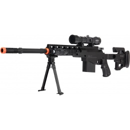 UK Arms Fully Loaded Tactical Quad RIS Sniper Rifle - BLACK