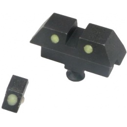 Atlas Custom Works Glow-in-the Dark Dot Sights for Hi-Capa - BLACK