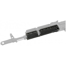 Atlas Custom Works Aluminum AK 10 in Lower Rail Handguard - BLACK