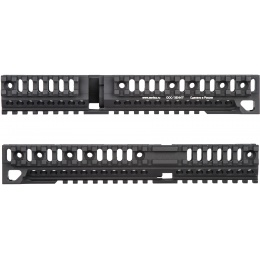 Atlas Custom Works Aluminum AK 10 in Lower Rail Handguard - BLACK