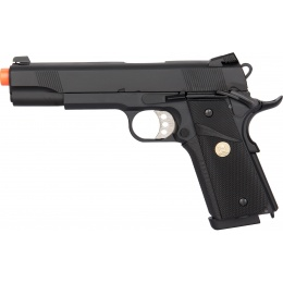Double Bell M1911 MEU GBB Gas Blowback Airsoft Pistol - BLACK