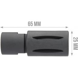 ARES 14mm Clockwise 65mm Birdcage Flash Hider - BLACK