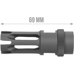 ARES 14mm Clockwise M16 Flash Hider (Type F) - BLACK