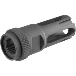 ARES 14mm Clockwise M16 Flash Hider (Type D) - BLACK