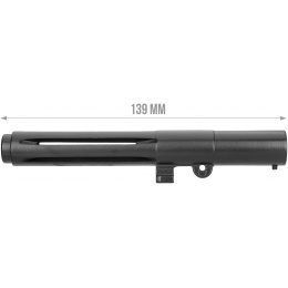 ARES L1A1 SLR Full Metal Clockwise Flash Hider - BLACK