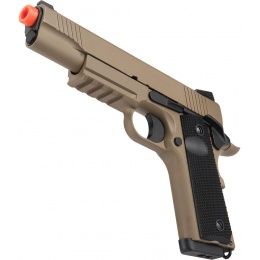 Double Bell M1911 CQB Tactical Gas Blowback GBB Airsoft Pistol - TAN