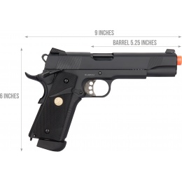 Double Bell M1911 CO2 Blowback MEU Airsoft Pistol (Low Velocity)