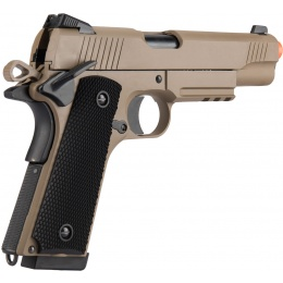 Double Bell M1911 Tactical GBB Airsoft Pistol (Low Velocity) - TAN