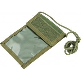 Flyye Industries Neck Identification Storage Wallet - OD GREEN