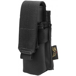 Flyye Industries MOLLE Single 9mm Pistol Magazine Pouch - BLACK