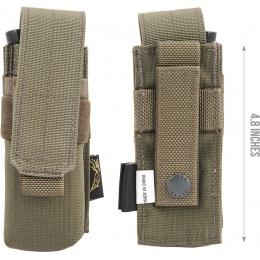 Flyye Industries MOLLE Single 9mm Pistol Magazine Pouch - RANGE GREEN