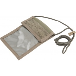 Flyye Industries Neck Identification Storage Wallet - RANGER GREEN