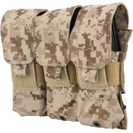 Flyye Industries 1000D Triple M4/M16 Magazine Pouch - DESERT DIGITAL