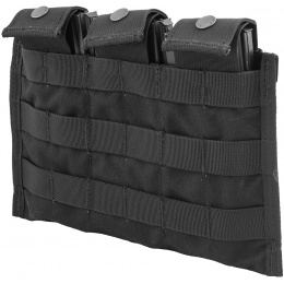 Flyye Industries Snap Button Triple M4/M16 Magazine Pouch - BLACK