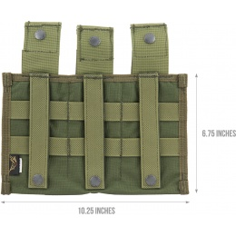 Flyye Industries Snap Button Triple M4/M16 Magazine Pouch - OD GREEN