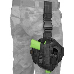 Flyye Industries Tactical Drop Leg MOLLE Pistol Holster - BLACK