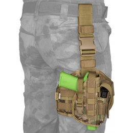 Flyye Industries Tactical Drop Leg MOLLE Pistol Holster - MULTICAM