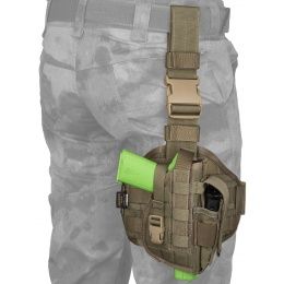 Flyye Industries Tactical Drop Leg MOLLE Pistol Holster - RANGER GREEN