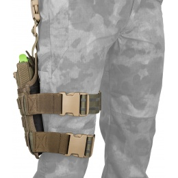 Flyye Industries SPEC-OPS MOLLE Drop Leg Pistol Holster - RANGER GREEN