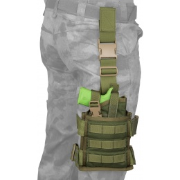 Flyye Industries SPEC-OPS MOLLE Drop Leg Pistol Holster - OD GREEN