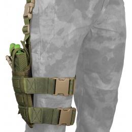 Flyye Industries SPEC-OPS MOLLE Drop Leg Pistol Holster - OD GREEN