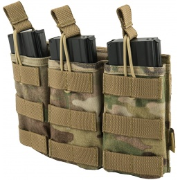 Flyye Industries Universal Triple M4/M16 Bungee Magazine Pouch - MULTICAM