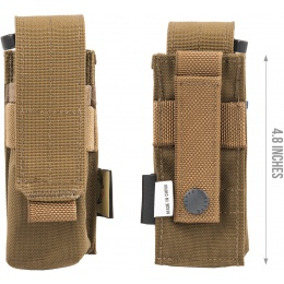 Flyye Industries MOLLE Single 9mm Pistol Magazine Pouch - COYOTE BROWN