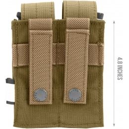 Flyye Industries MOLLE Double Pistol Magazine Pouch - COYOTE BROWN