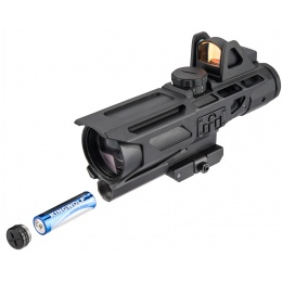 NcStar Gen 3 Ultimate Sighting System 3-9X40 Scope w/ Red Dot - BLACK