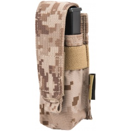 Flyye Industries MOLLE Single 9mm Pistol Magazine Pouch - AORI
