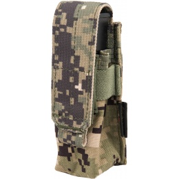 Flyye Industries MOLLE Single 9mm Pistol Magazine Pouch - AOR2