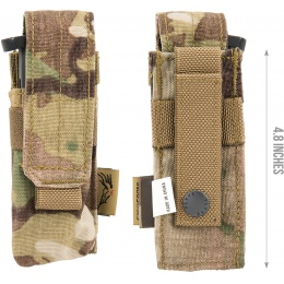 Flyye Industries MOLLE Single 9mm Pistol Magazine Pouch - MULTICAM