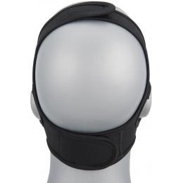 WoSport Yokai Ogre Half Face Mask w/ Soft Padding - BLACK/GOLD