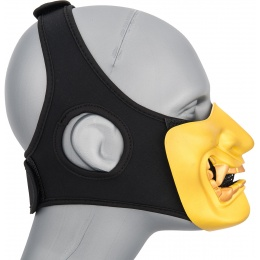 WoSport Yokai Ogre Half Face Mask w/ Soft Padding - GOLD