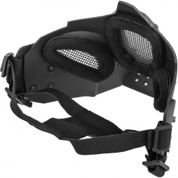WoSport Adjustable Retro Mecha Half Face Mask - BLACK