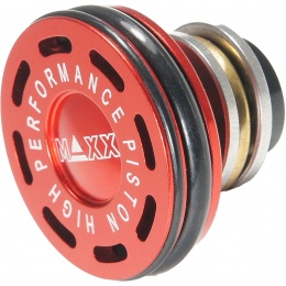 Maxx Model CNC Aluminum Double O-Ring Ball Bearing AEG Piston Head - RED