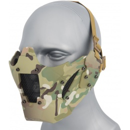 WoSport Adjustable Retro Mecha Half Face Mask - CAMO