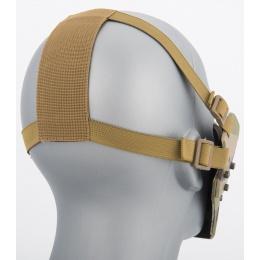WoSport Adjustable Retro Mecha Half Face Mask - CAMO