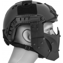 WoSport Adjustable Retro Mecha Half Face Mask - OD GREEN